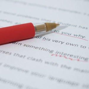 Photo of proofreading
